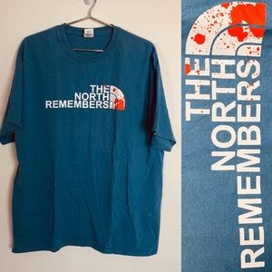 🐺game of thrones north remembers shirt xl n face